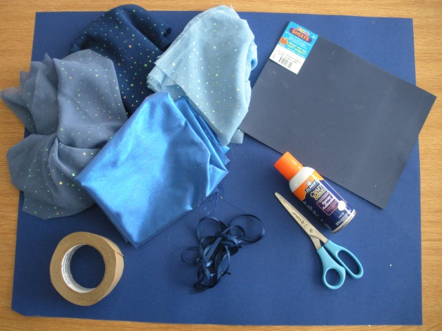 Supplies for Fish Costume
